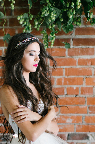 'Eden' Crystal and Rhinestone Draped Headband
