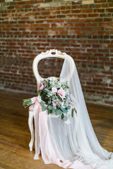 'Genevieve' Silk Tulle  Cathedral Veil