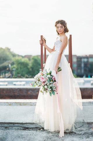 'June' Beaded Tulle Ball Gown