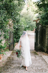 'Serene' Draped Cathedral Veil