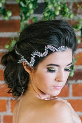 Vine Rhinestone Leaf Headdress