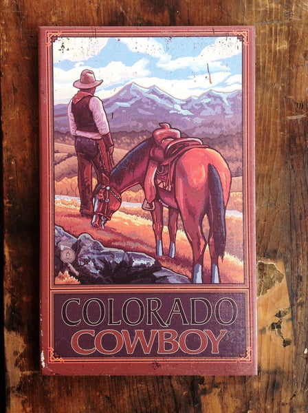 Cowboy and Horse Vintage Sign