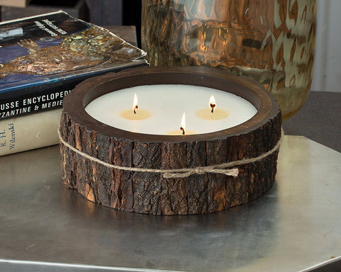 Large Tree Bark Candle