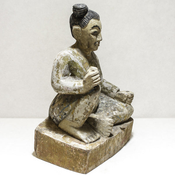 Wooden Rock Breaker Burma Statue