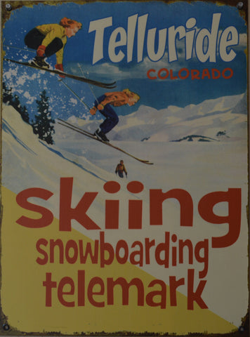 Skiing Snowboarding Telemark Sign