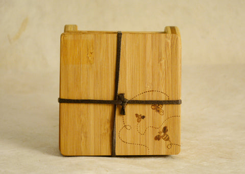 Bamboo Bee Coasters