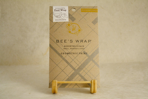 3 pk Geometric Reusable Beeswax Wrap