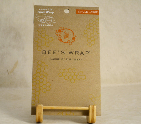 Single Large Beeswax Reusable Wrap