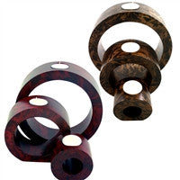 Nesting Candle Holder Set: Cherry