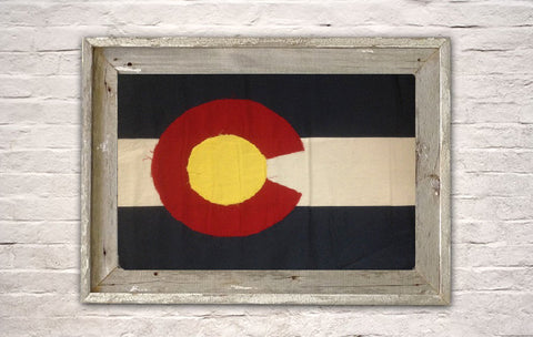 Old Colorado Weathered Flag