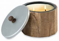 Natural Finish Wood Candle