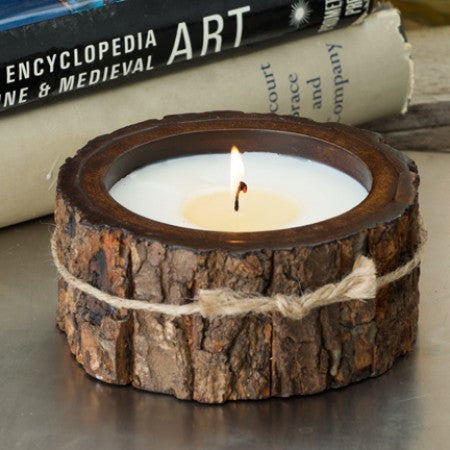 Small Tree Bark Candle