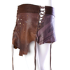 Urban Tribal Leather Wrap Skirt (Medium)