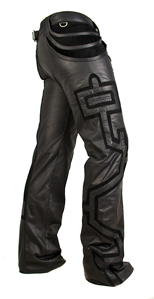 A.D. Now Urban Mayan Leather Pants