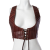 Maya Pleated Leather Vest