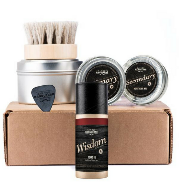 Dapper & Done  | CanYouHandlebar Basic Beard Care Kit: Wisdom Beard Oil Bottle - Woodsy Scent  - 1