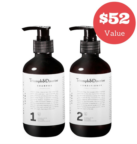 Dapper & Done  | Triumph & Disaster Shampoo & Conditioner Bundle  - 1