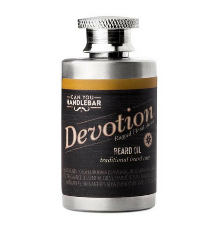 Dapper & Done  | CanYouHandlebar Devotion Beard Oil Flask - Patchouli & Floral Scent