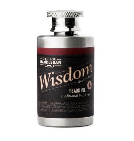 Dapper & Done  | CanYouHandlebar Wisdom Beard Oil Flask - Woodsy Scent