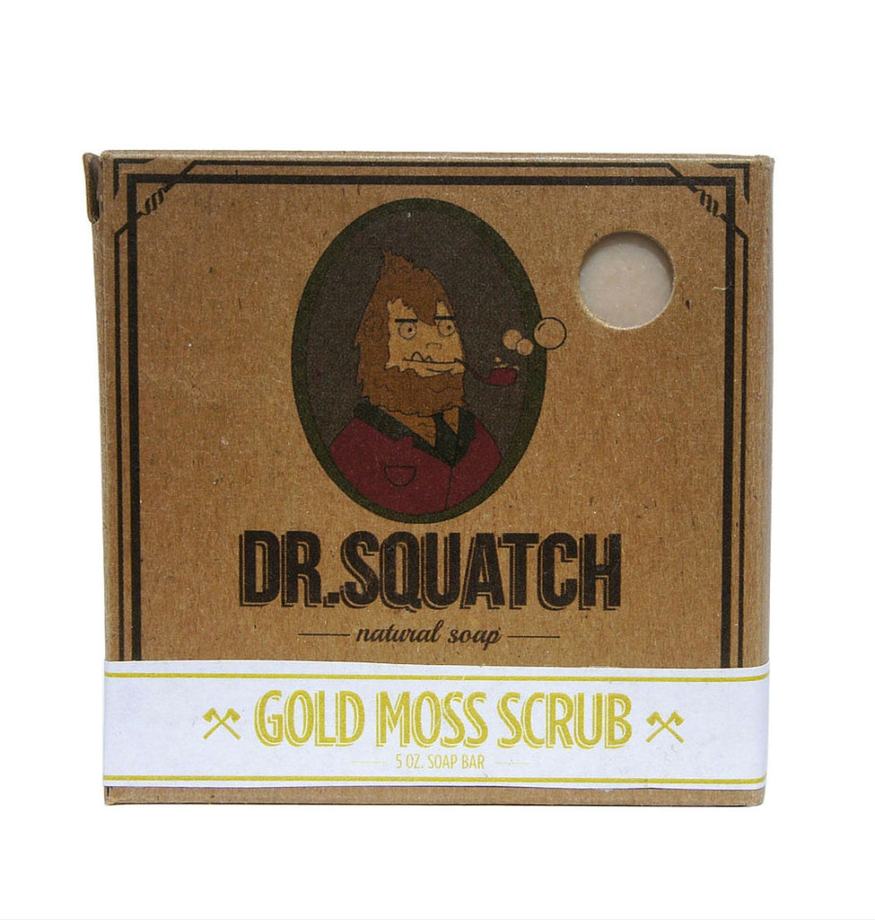 Dapper & Done  | Dr. Squatch Gold Moss Scrub Soap  - 1