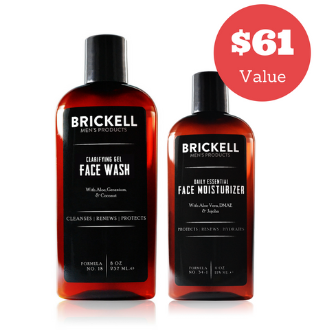 Dapper & Done  | Brickell Men's Daily Essential Face Care Routine Bundle  - 1