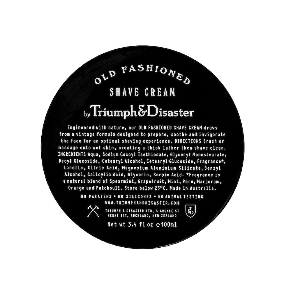 Dapper & Done | Triumph & Disaster Old Fashioned Shave Cream (Jar)