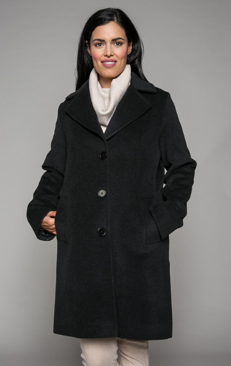 Classic Coat with Notch Collar