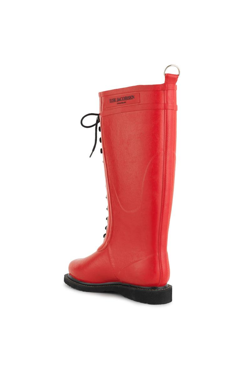 Rubber boots with laces