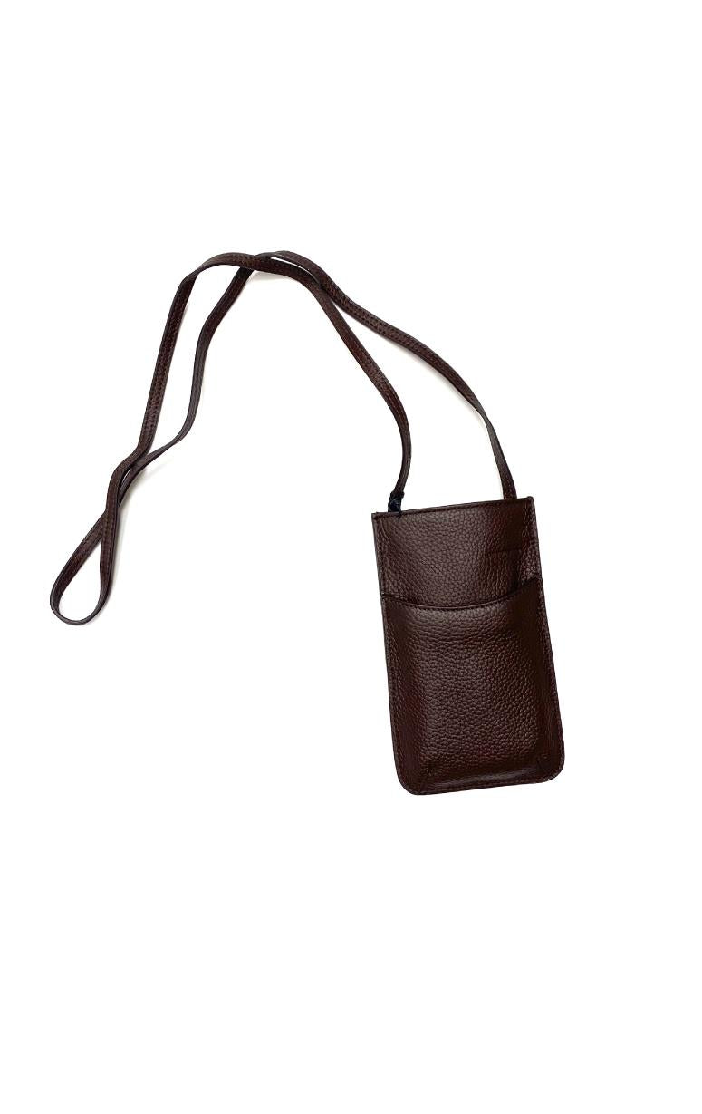Leather Cross Body Cell Phone Slip