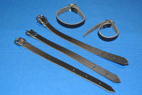 5 little leather straps
