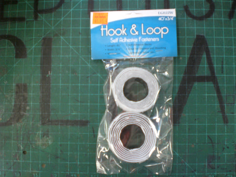Self-Adhesive White Hook and Loop Set