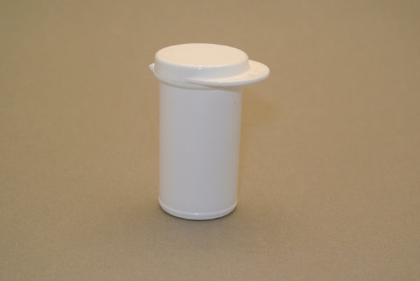 White Plastic Container w/ Snap Lid