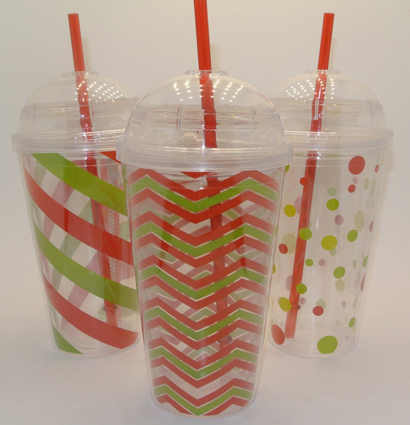 20 oz. Double Walled Plastic Tumbler