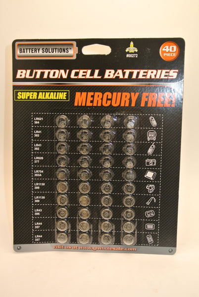 40Pcs Button Cell Batteries