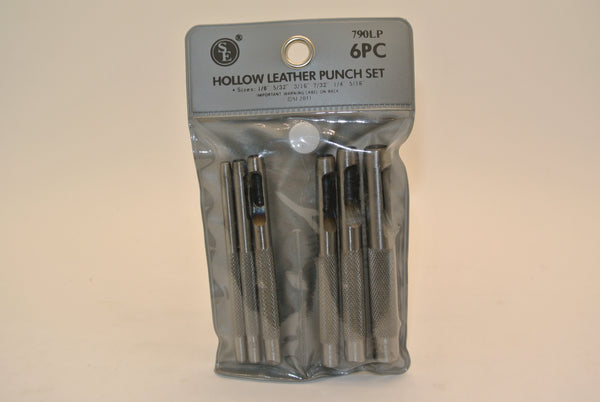 6pc Hollow Leather Punch Set