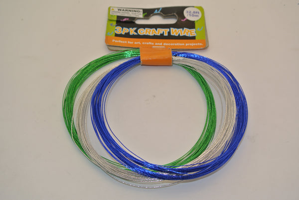 3 Pack of Thin Craft Wire