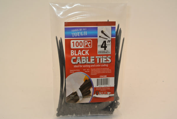 "100pc 4"" Cable Ties"