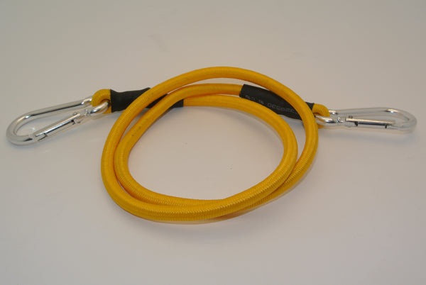 "36"" Yellow Bungee Cord with 2 Carabiners"