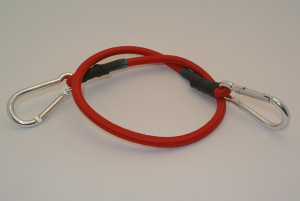 "24"" Red Bungee Cord with 2 Carabiners"