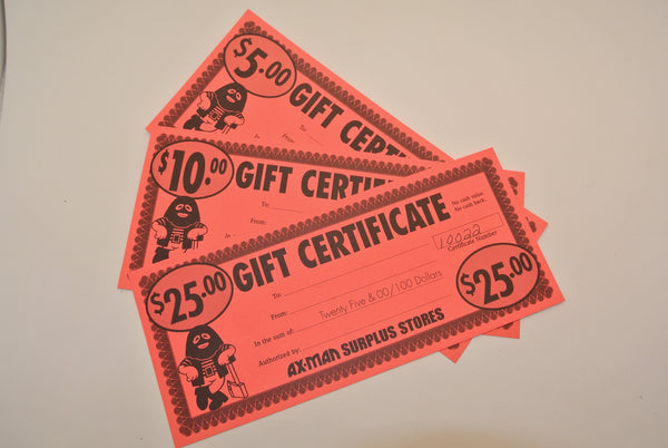 Ax-Man Gift Certificates!