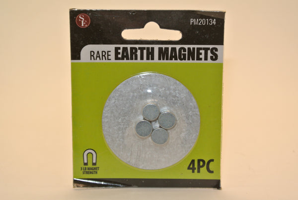 4pc Rare Earth Magnets