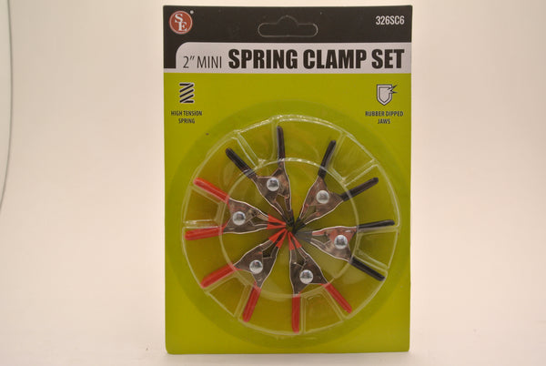 6pc Spring Clamps