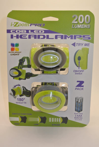 2pk 200 Lumen Headlamps