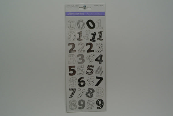 Foil Number Stickers