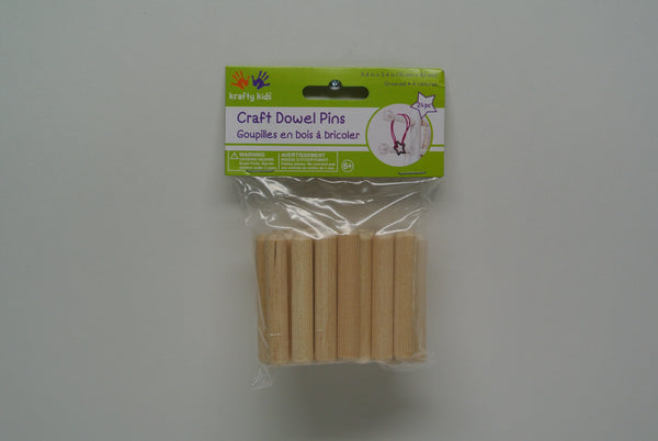 Wood Dowel Pins 24pc