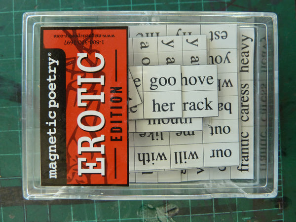 Consider, erotic magnetic poetry have