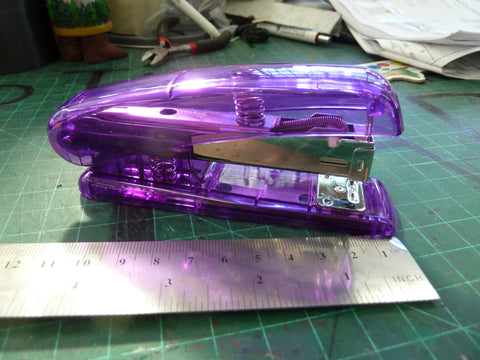 Clear Purple Stapler