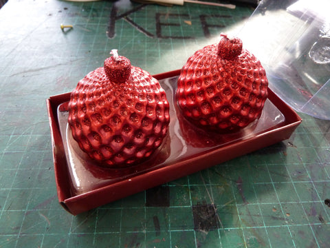 2 Pack Christmas Sparkle Candles