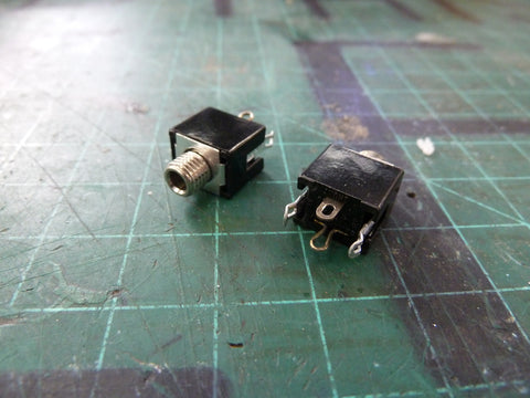 "approx. 350 Switchcraft 1/8"" mono chassis mount phone jacks"
