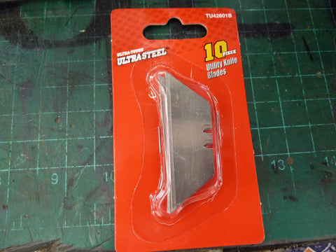 Ultra Steel 10 piece utility knife blades